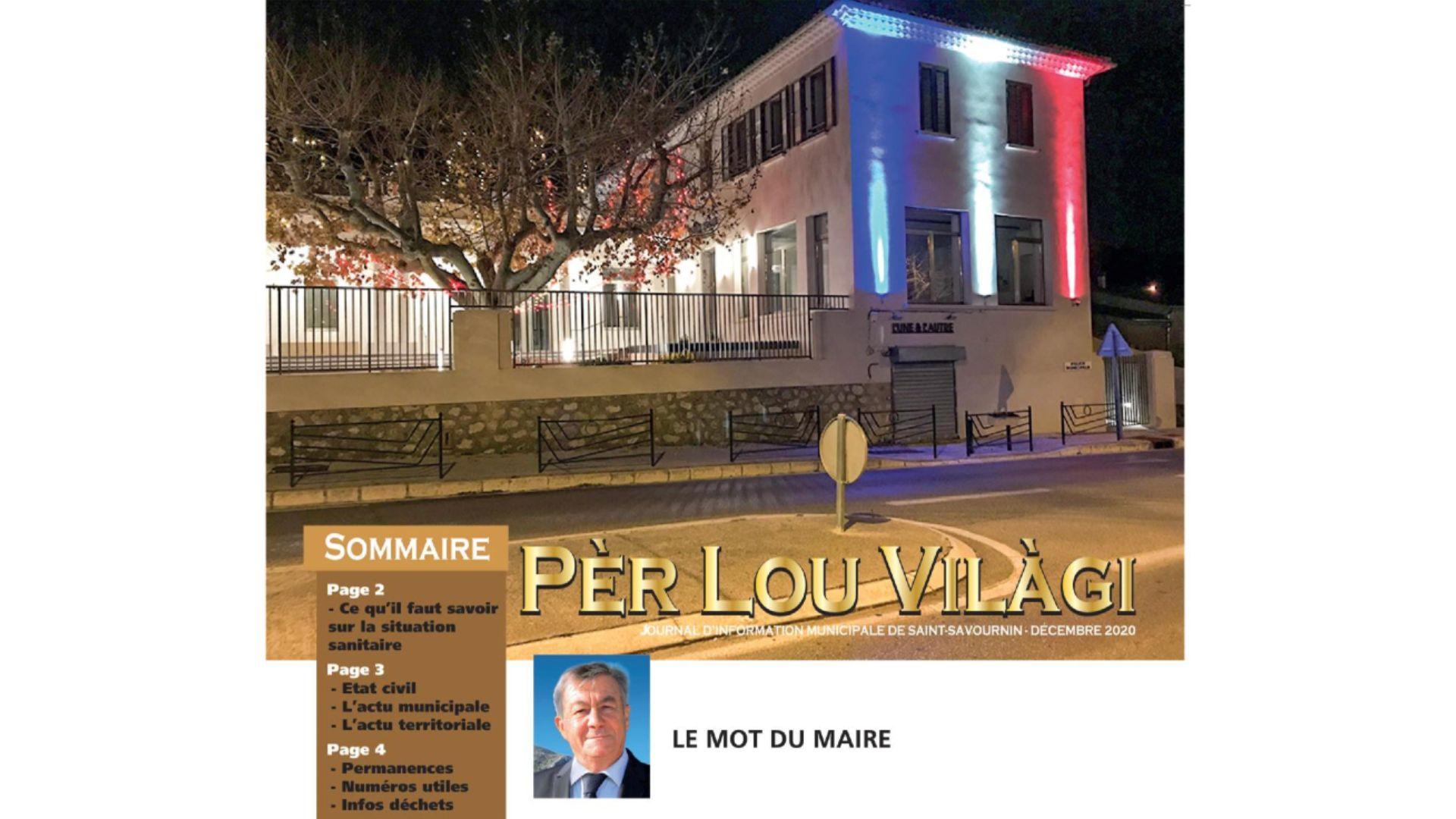 Bulletin municipal Saint-Savournin décembre 2020