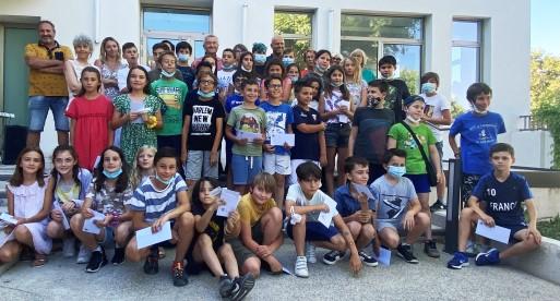 Mairie de Saint-Savournin Cérémonie d'au revoir pour les 2 classes de CM2 ce 25 juin 2021