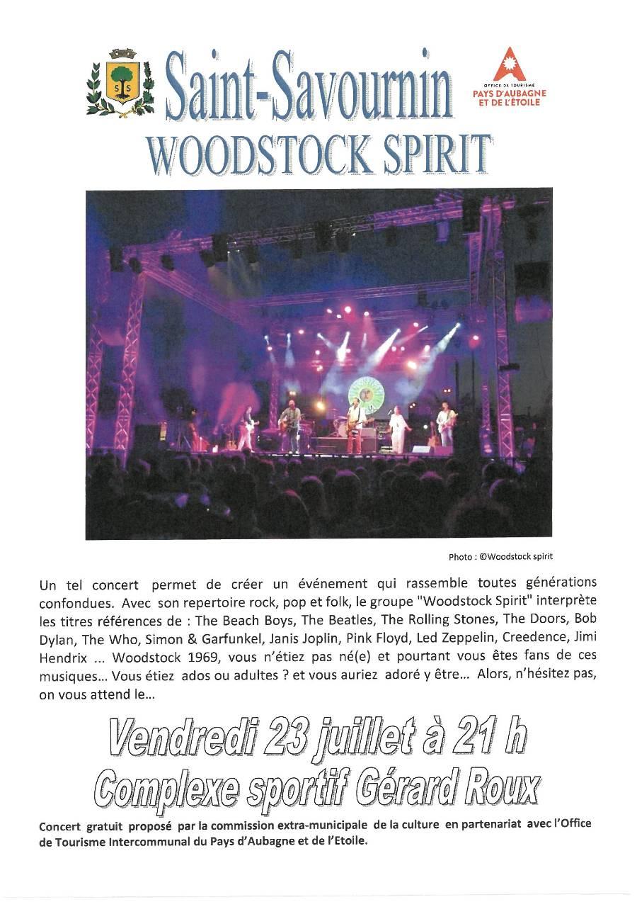 Mairie Saint-Savournin concert 23 juillet Woodstock spirit