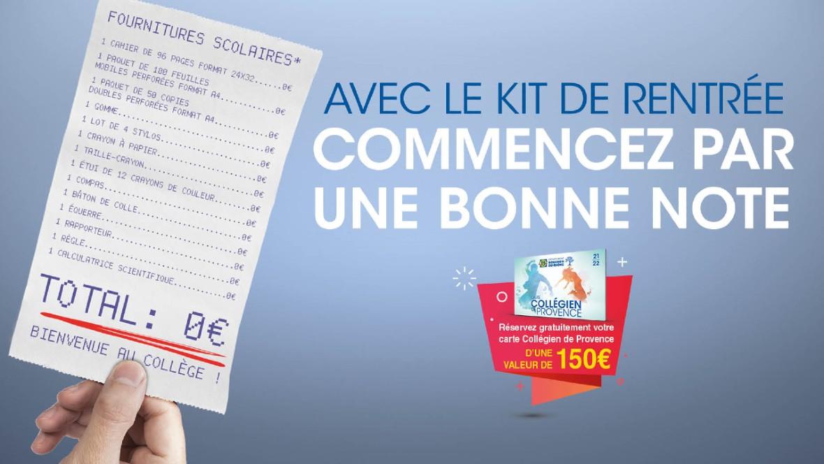 Mairie St-Savournin kit rentrée scolaire des collégiens offert par le Département