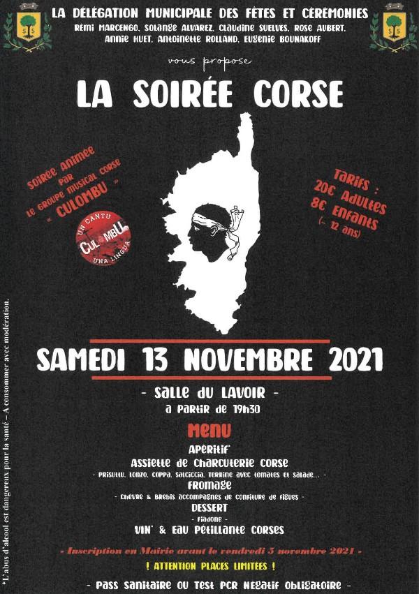 Mairie Saint-Savournin Soirée Corse 13 novembre2021 salle du lavoir